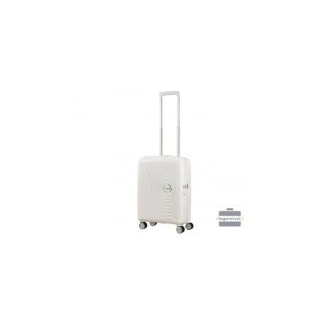 Mažas lagaminas American Tourister Soundbox M Baltas