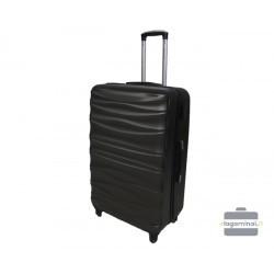 Vidutinis plastikinis lagaminas Gravitt 117-V Tamsiai pilkas