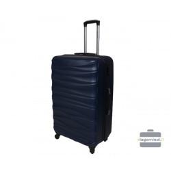 Vidutinis plastikinis lagaminas Gravitt 117-V Tamsiai mėlynas