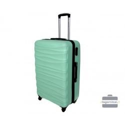 Vidutinis plastikinis lagaminas Gravitt 117-V Šviesiai žalias