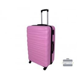 Vidutinis plastikinis lagaminas Gravitt 117-V Rožinis