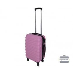 Mažas plastikinis lagaminas Gravitt 117-M Rožinis