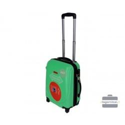 Mažas plastikinis lagaminas Szyk 606-M Šviesiai žalias