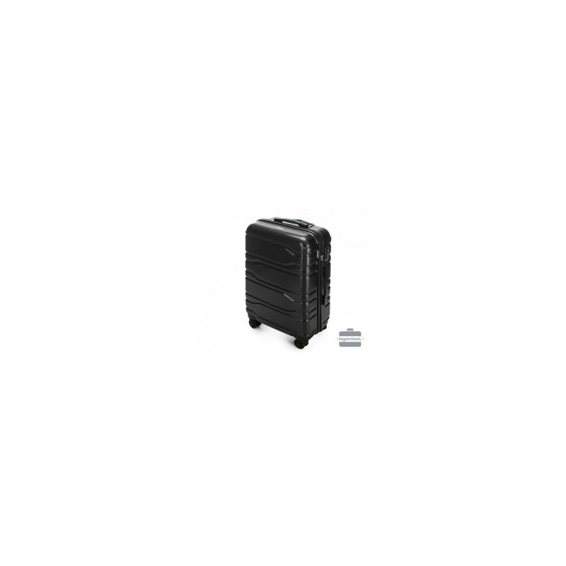 Vidutinis plastikinis lagaminas Wittchen 56-3P-982 Juodas