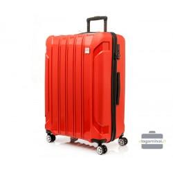 Didelis plastikinis lagaminas Swissbags Tourist II-D Raudonas