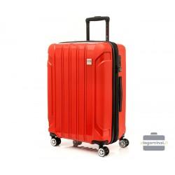 Vidutinis plastikinis lagaminas Swissbags Tourist II-V Raudonas