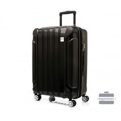 Vidutinis plastikinis lagaminas Swissbags Tourist II-V Juodas