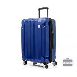 Vidutinis plastikinis lagaminas Swissbags Tourist II-V Mėlynas