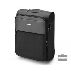 Mažas medžiaginis lagaminas VIP Travel V25-3S-241-M Juodas/pilkas