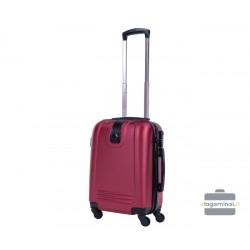 Mažas plastikinis lagaminas Bagia 8078-M Tamsiai raudonas