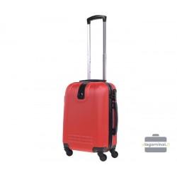 Mažas plastikinis lagaminas Bagia 8078-M Raudonas