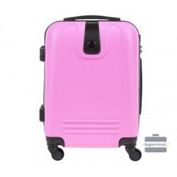 Mažas plastikinis lagaminas Bagia 8078-M Rožinis