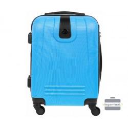 Mažas plastikinis lagaminas Bagia 8078-M Šviesiai mėlynas