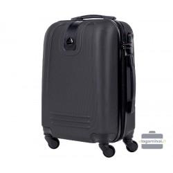 Mažas plastikinis lagaminas Bagia 8078-M Tamsiai pilkas