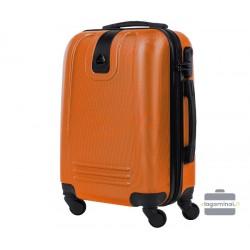 Mažas plastikinis lagaminas Bagia 8078-M Oranžinis