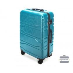 Didelis plastikinis lagaminas Wittchen 56-3P-983 Šviesiai mėlynas