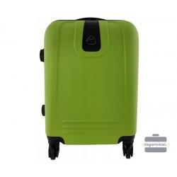 Mažas plastikinis lagaminas Bagia 8078-M Žalias
