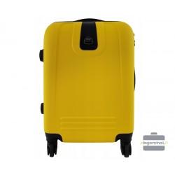 Mažas plastikinis lagaminas Bagia 8078-M Geltonas