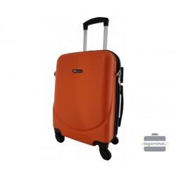Mažas plastikinis lagaminas Bagia 8091-M Oranžinis