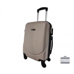 Mažas plastikinis lagaminas Bagia 8091-M Šampano spalva