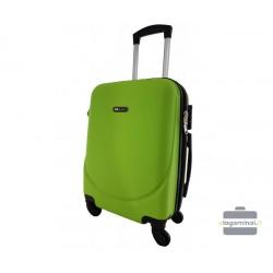 Mažas plastikinis lagaminas Bagia 8091-M Žalias