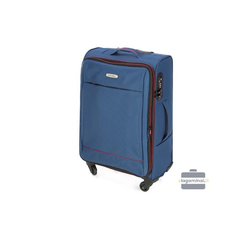 Vidutinis medžiaginis lagaminas Wittchen 56-3S-462 Mėlynas