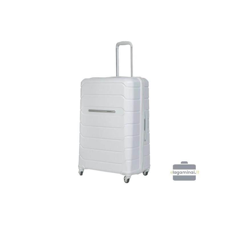Didelis plastikinis lagaminas Burak PQ-D Baltas