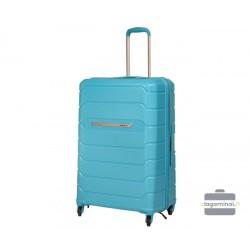 Didelis plastikinis lagaminas Burak PQ-D Šviesiai mėlynas
