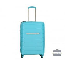 Vidutinis plastikinis lagaminas Burak PQ-V Šviesiai mėlynas