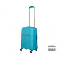 Mažas plastikinis lagaminas Burak PQ-M Šviesiai mėlynas