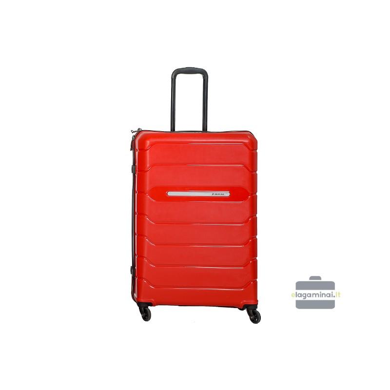 Didelis plastikinis lagaminas Burak PQ-D Raudonas