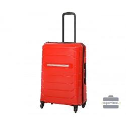 Vidutinis plastikinis lagaminas Burak PQ-V Mėlynas