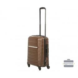 Mažas plastikinis lagaminas Burak PQ-M Rudas