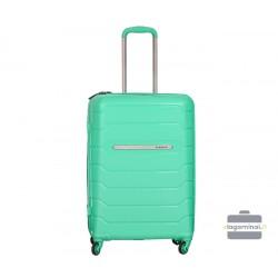 Vidutinis plastikinis lagaminas Burak PQ-V Šviesiai žalias