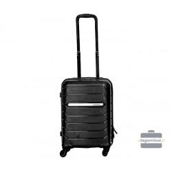 Mažas plastikinis lagaminas Burak PQ-M Juodas