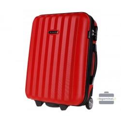 Mažas plastikinis lagaminas Bagia 514-M Raudonas