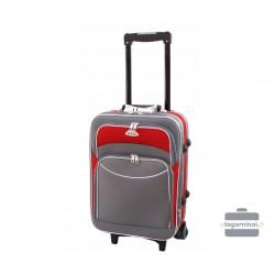 Mažas medžiaginis lagaminas Deli 101-M Pilkas/raudonas