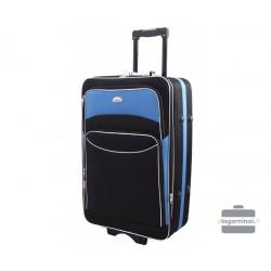 Vidutinis medžiaginis lagaminas Deli 101-V Juodas/šviesiai mėlynas