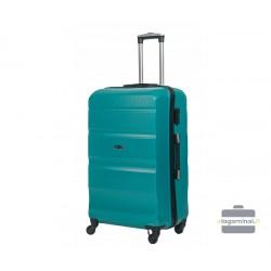 Didelis plastikinis lagaminas Gravitt Travel 710-D Žalias