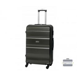 Vidutinis plastikinis lagaminas Gravitt Travel 710-V Tamsiai pilkas