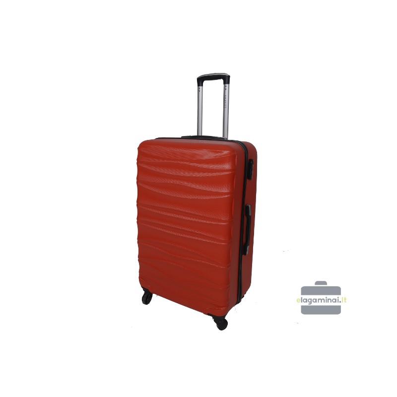 Didelis plastikinis lagaminas Gravitt 117-D Raudonas