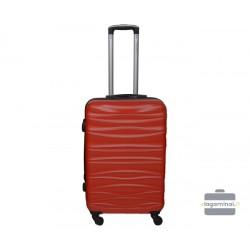 Vidutinis plastikinis lagaminas Gravitt 117-V Tamsiai raudonas