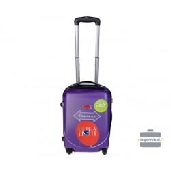 Mažas plastikinis lagaminas Gravitt 310-M Violetinis