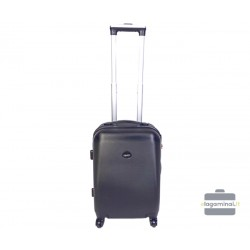 Mažas plastikinis lagaminas Gravitt 866-M Tamsiai pilkas