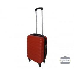Mažas plastikinis lagaminas Gravitt 117-M Tamsiai raudonas