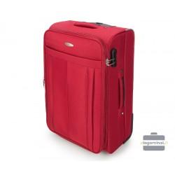 Vidutinis medžiaginis lagaminas Vip Travel V25-3S-272 Raudonas