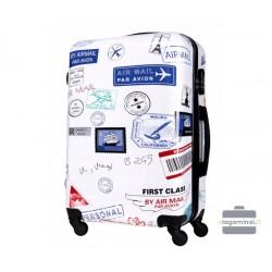 Mažas plastikinis lagaminas Bagia BL 03-M