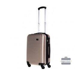 Mažas plastikinis lagaminas Bagia 8080-M Šampano spalva
