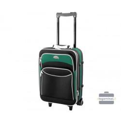 Mažas medžiaginis lagaminas Deli 101-M Juodas/žalias