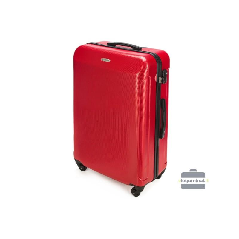 Didelis plastikinis lagaminas Wittchen 56-3P-873 Raudonas